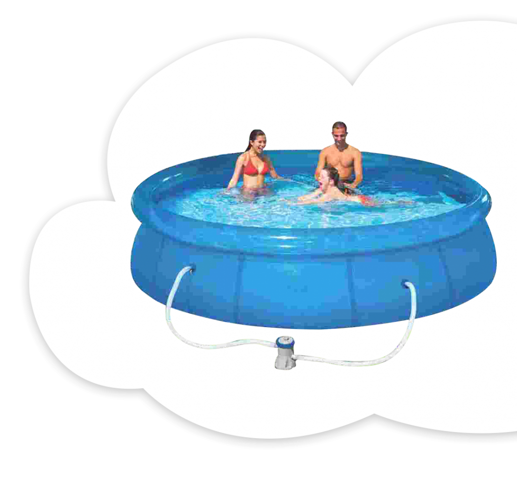 12 ft. Cubical Pool With Filter