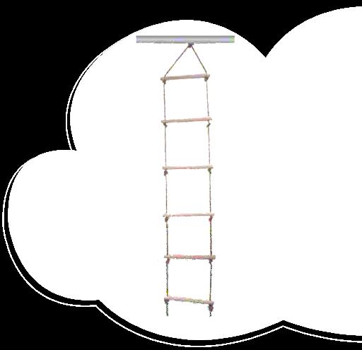 Wooden Ladder (5 Rungs)