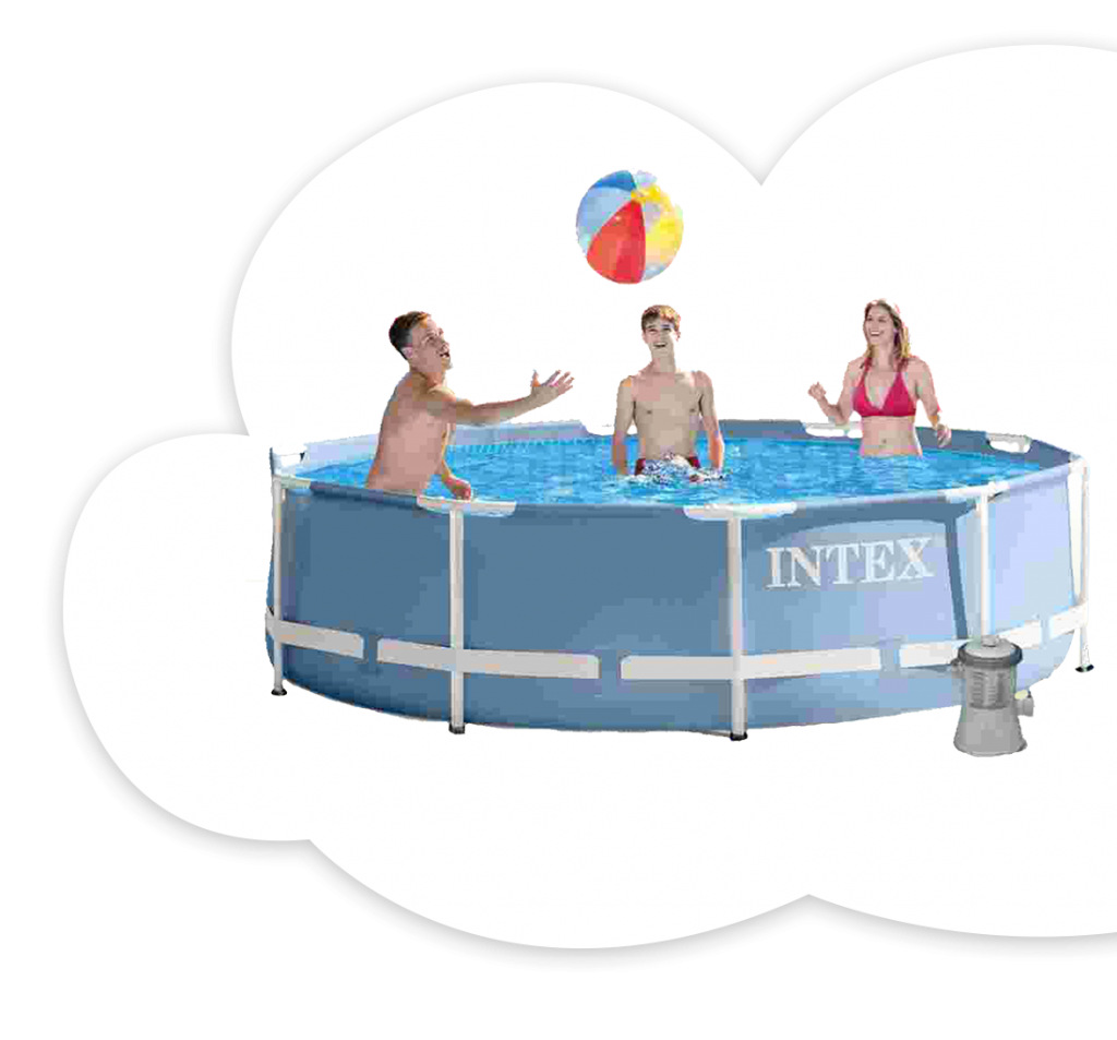 Intex 10 ft. Prism Metal Frame Pool With Filter
