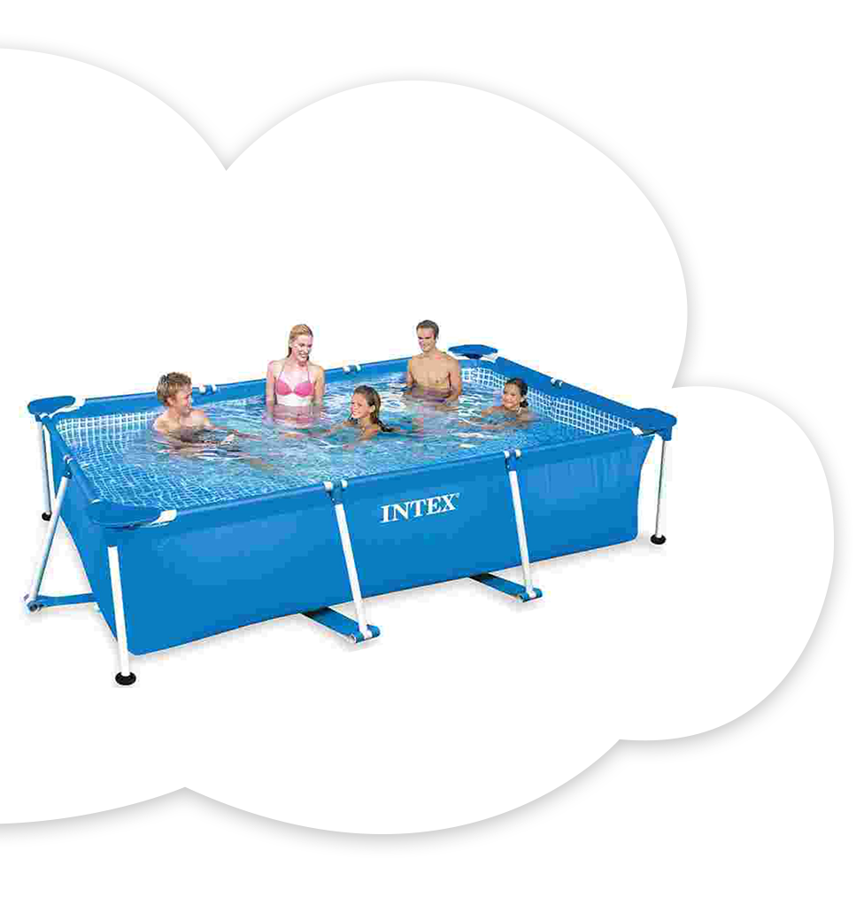 Intex 10 ft. Rectangular Frame Pool