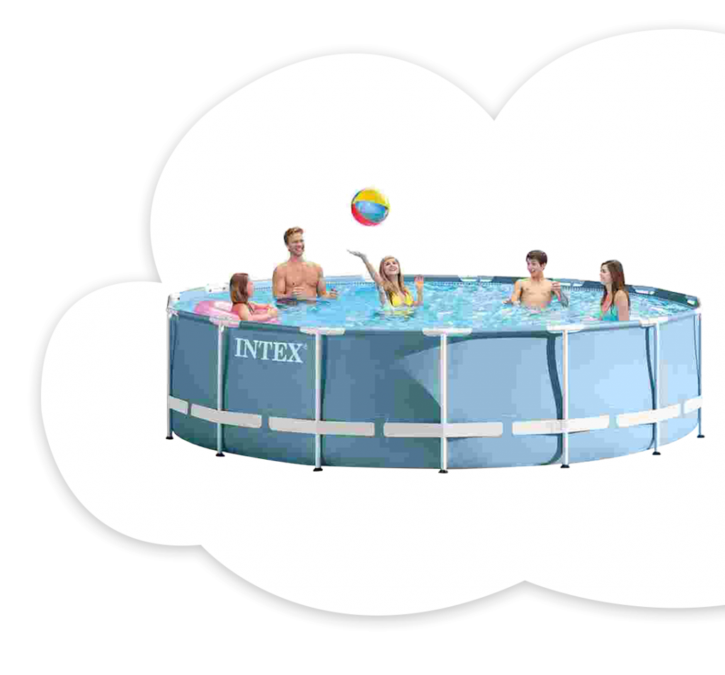 Intex 12 ft. Prism Metal Pool With Filter & Acc.