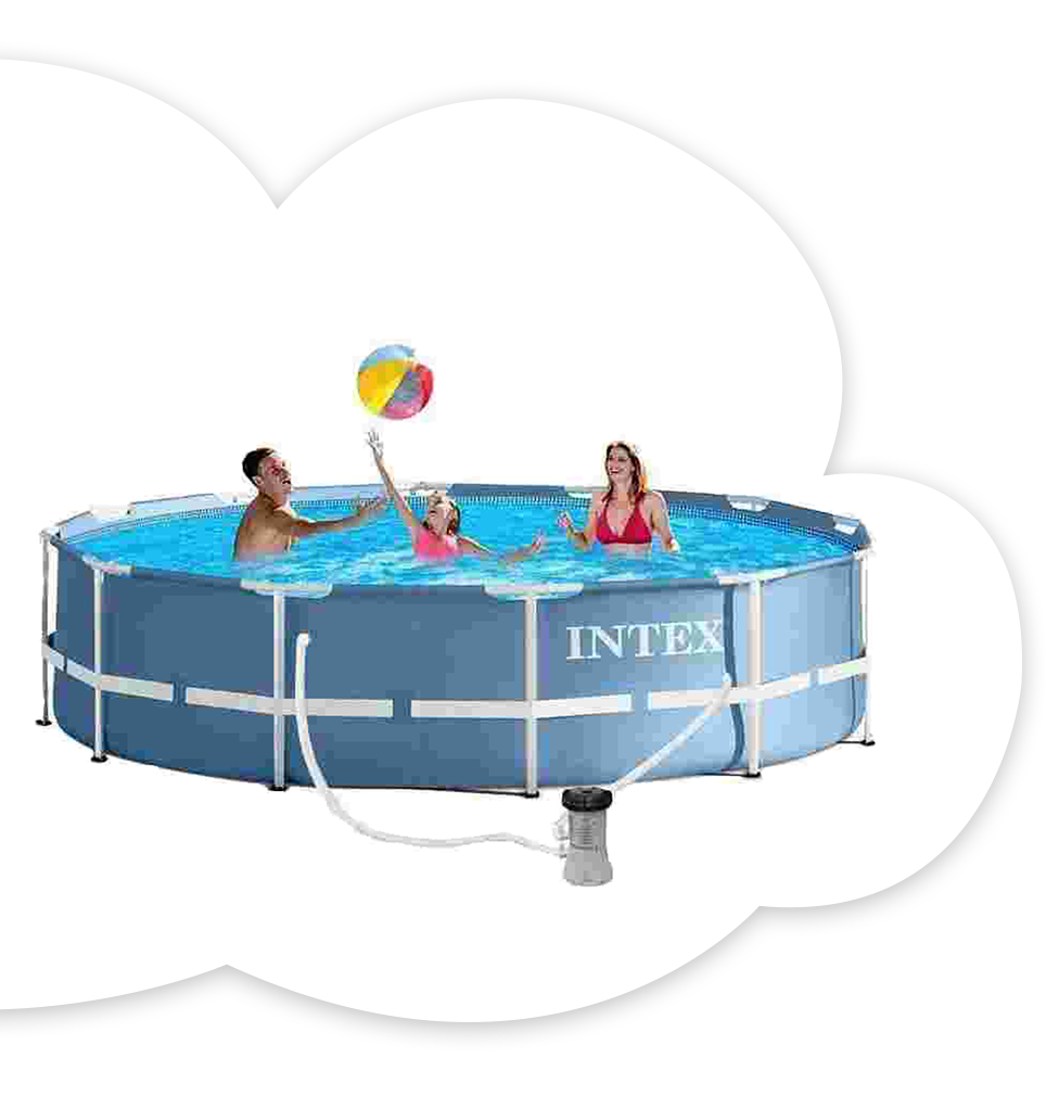 Intex 12 ft. Prism Metal Pool With Filter